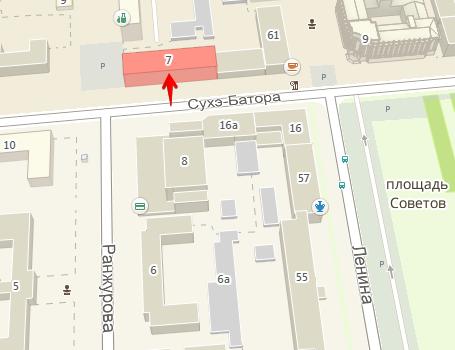 карта расположения офиса